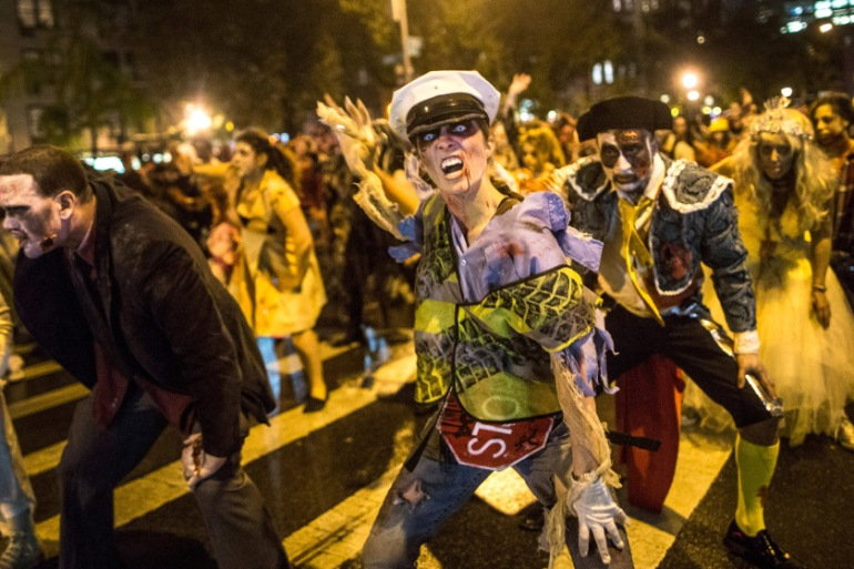 New Yorkers Don Imaginative Costumes For Annual Halloween Parade