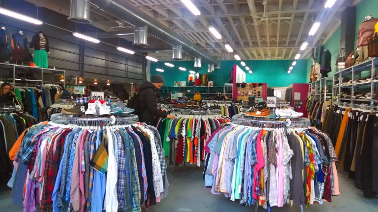 Inside of Buffalo Exchange at Boerum Place