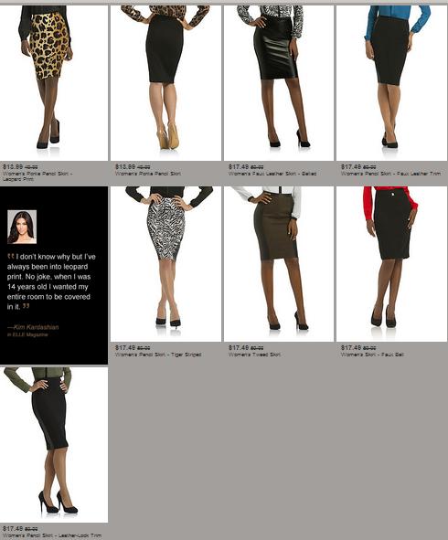 kardashian kollection-sears-skirts