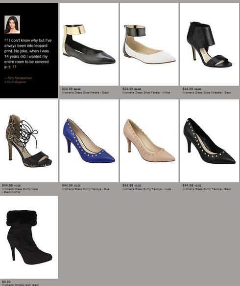 kardashian kollection-sears-shoes