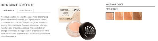 nyx cosmetics-dark circle concealer