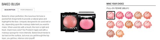 nyx cosmetics-baked blush