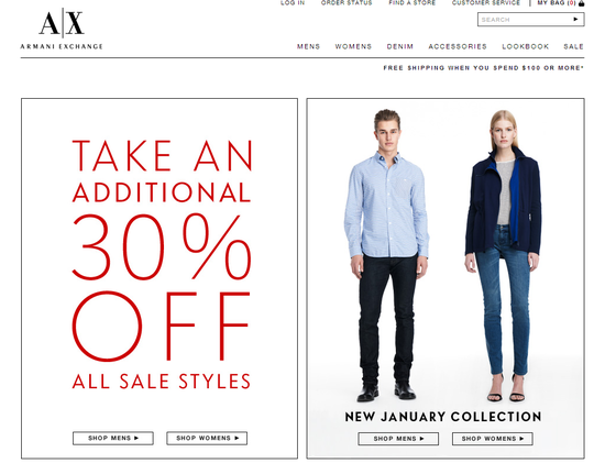 Armani Exchange-Sale
