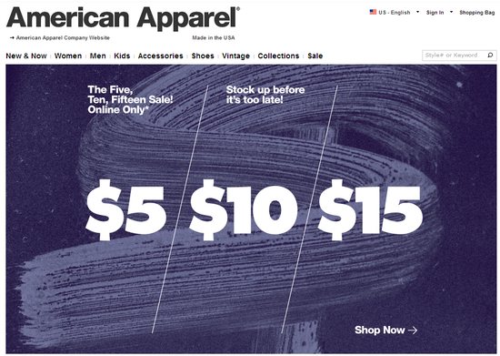 American Apparel-Sale