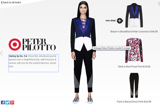 Peter-Pilotto-for-target-blazer-in blue-colorblock