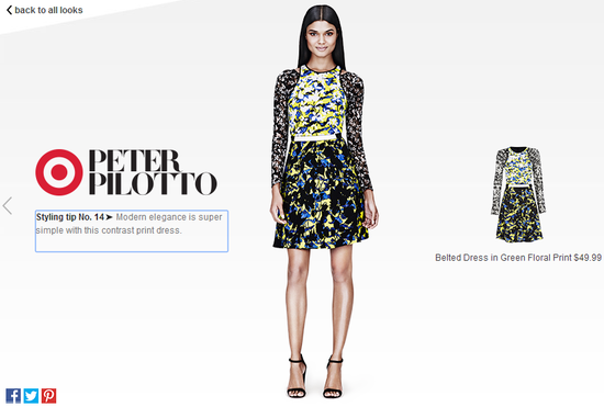Peter-Pilotto-for-target-belted-dress
