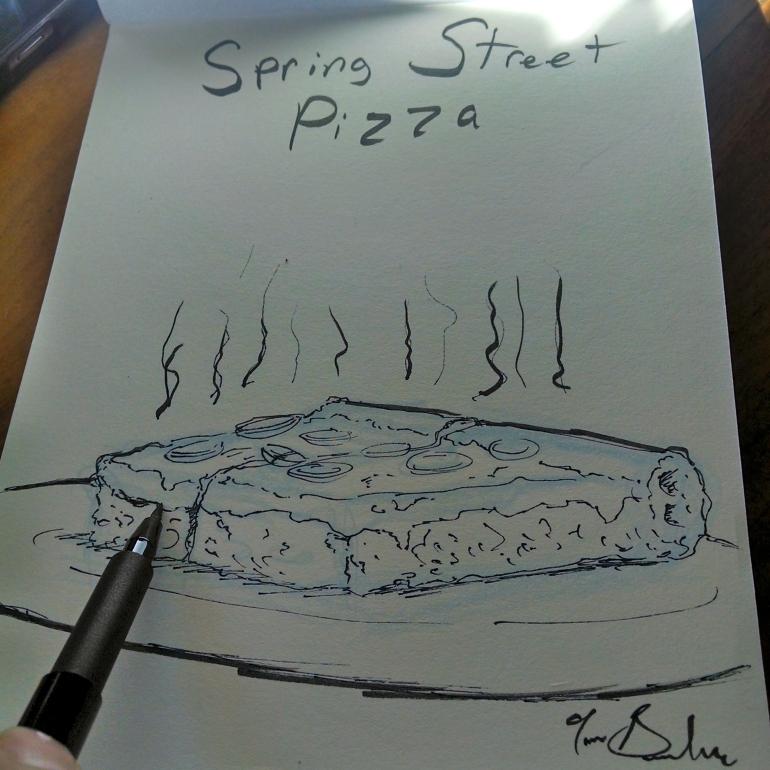 prince st pizza drawing tom gambino