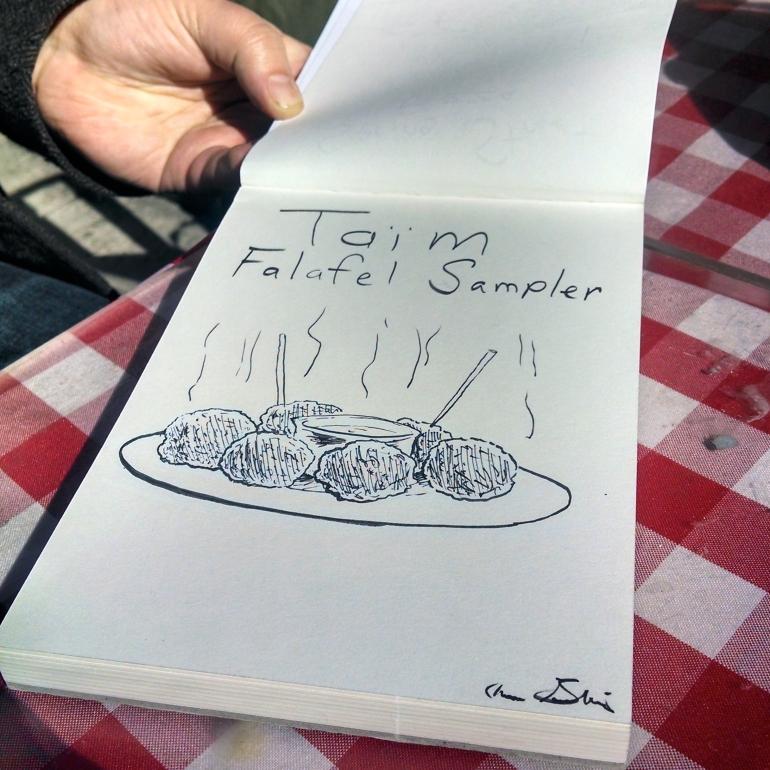 taim falafel drawing