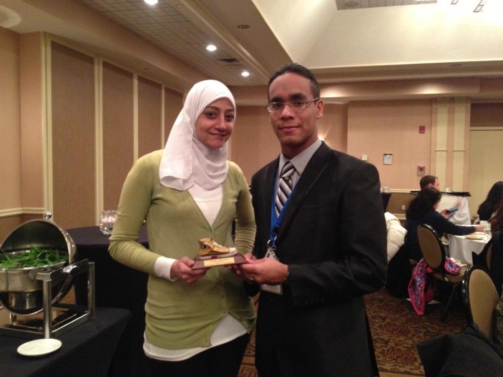 Amira Zaki of Jersey City and Rigoberto Ramirez of Garfield