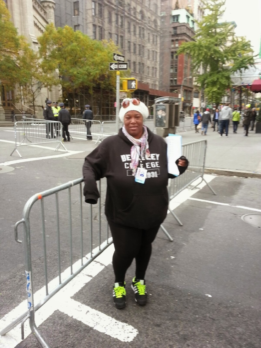 Sharla Hanley at the Veteran's Day Parade