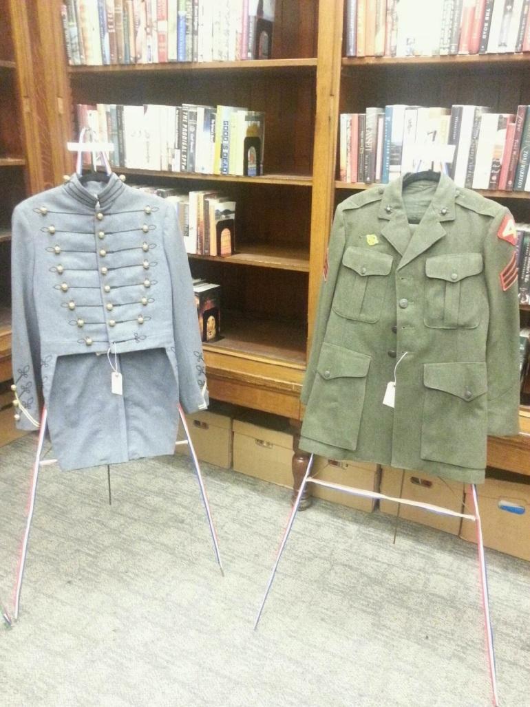 Veterans Uniform Display Photo by Sharla Hanley