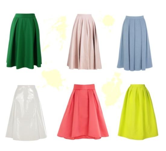 Full Skirt Trend 2014