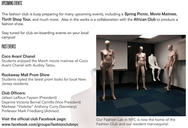 Fashion club events