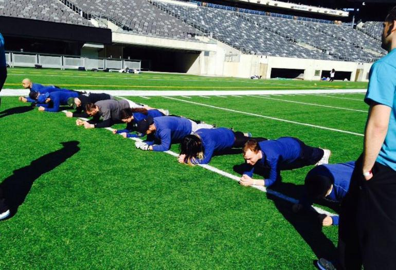 Team Berkeley During Plank Challenge-CFF
