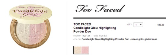 too faced candelight