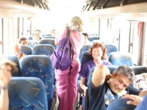 leaving on bus
