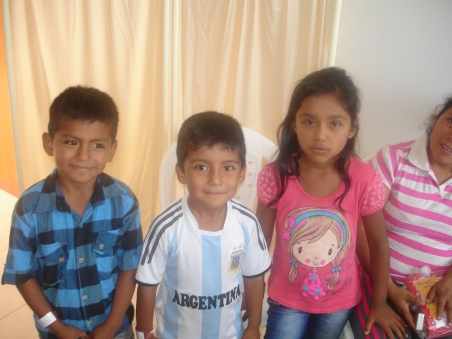 children at clinic