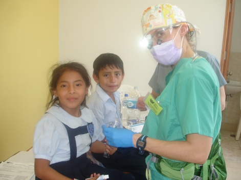 Dr Michelle with Kids