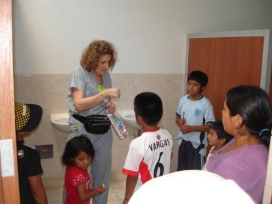 Connie teaching kids