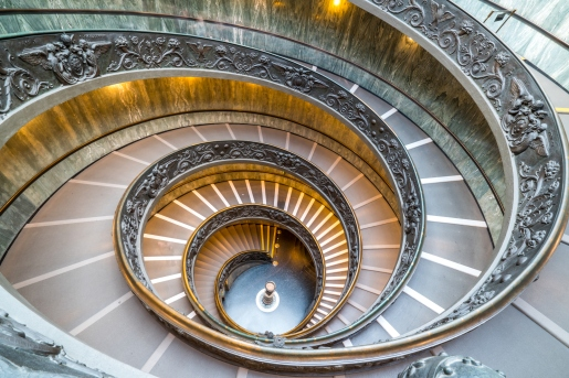 Spiral staircase in Sistine chapel