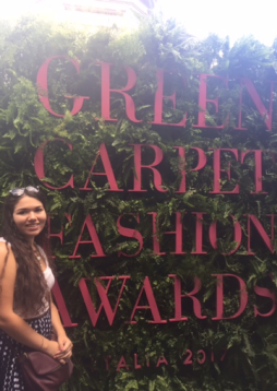 Set up for Green Carpet Fashion Awards