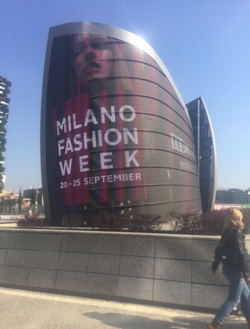 Advertisements for Milan Fashion Week