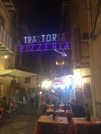 Restaurant district in Palermo